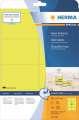 Odolné etikety Herma- 99,1 x 67,7 mm, neonově žluté, 160 ks