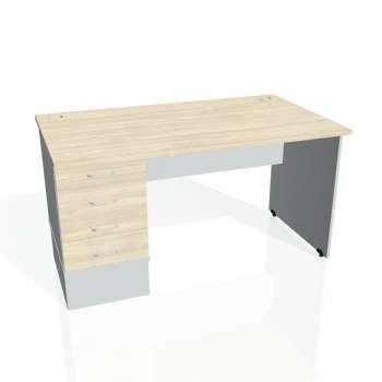 Psací stůl Hobis GATE GSK 1400 24, akát/šedá