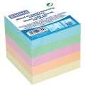 Poznámkový bloček DONAU - nelepený, 83 x 83 x 75 mm, pastelový