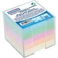 Poznámkový bloček DONAU v průhledné krabičce - nelepený, pastelový