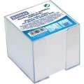 Poznámkový bloček DONAU v průhledné krabičce - nelepený, bílý