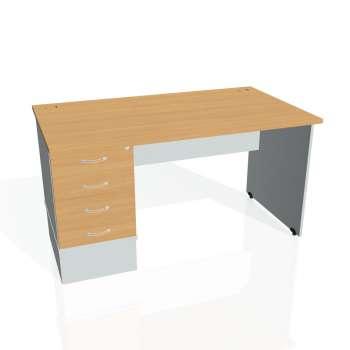 Psací stůl Hobis GATE GSK 1400 24, buk/šedá
