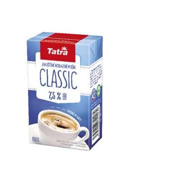 Mléko do kávy Tatra - Classic 7,5 % tuku, 250g