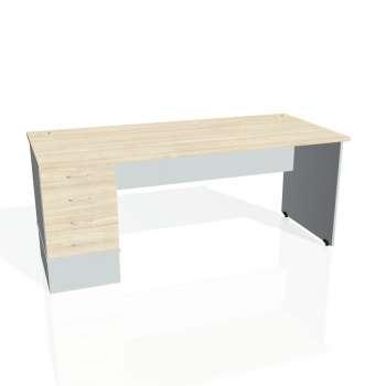 Psací stůl Hobis GATE GSK 1800 24, akát/šedá