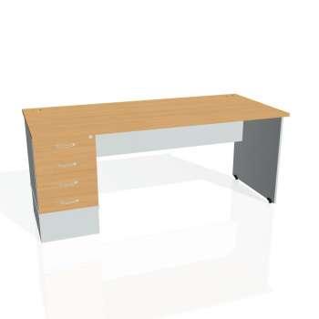 Psací stůl Hobis GATE GSK 1800 24, buk/šedá