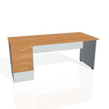 Psací stůl Hobis GATE GSK 1800 24, olše/šedá