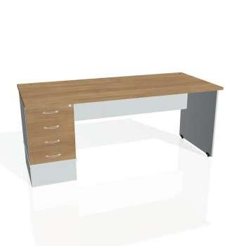 Psací stůl Hobis GATE GSK 1800 24, višeň/šedá