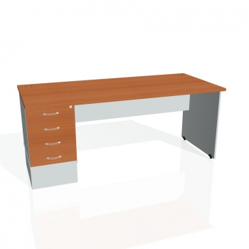 Psací stůl Hobis GATE GSK 1800 24, třešeň/šedá