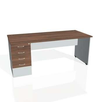 Psací stůl Hobis GATE GSK 1800 24, ořech/šedá