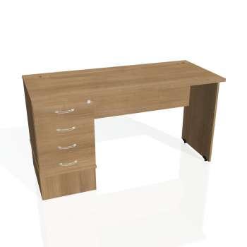 Psací stůl Hobis GATE GEK 1400 24, višeň/višeň