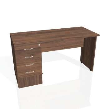 Psací stůl Hobis GATE GEK 1400 24, ořech/ořech