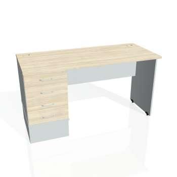 Psací stůl Hobis GATE GEK 1400 24, akát/šedá
