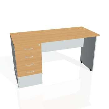 Psací stůl Hobis GATE GEK 1400 24, buk/šedá