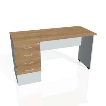 Psací stůl Hobis GATE GEK 1400 24, višeň/šedá