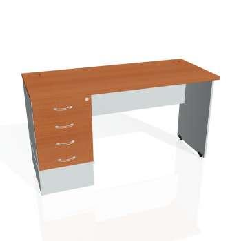 Psací stůl Hobis GATE GEK 1400 24, třešeň/šedá