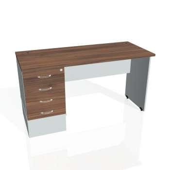 Psací stůl Hobis GATE GEK 1400 24, ořech/šedá