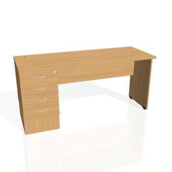 Psací stůl Hobis GATE GEK 1600 24, buk/buk
