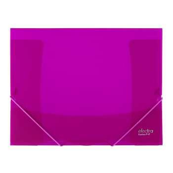 Desky na dokumenty s gumičkou ELECTRA - A4, tmavě růžová