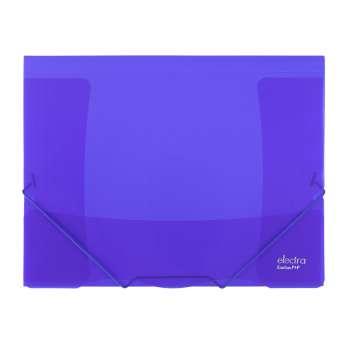 Desky na dokumenty s gumičkou ELECTRA - A4, tmavě modrá