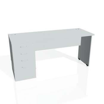 Psací stůl Hobis GATE GEK 1600 24, šedá/šedá