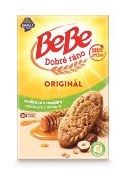 Sušenky BeBe Dobré ráno - oříškové s medem, 400g