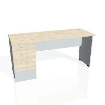 Psací stůl Hobis GATE GEK 1600 24, akát/šedá
