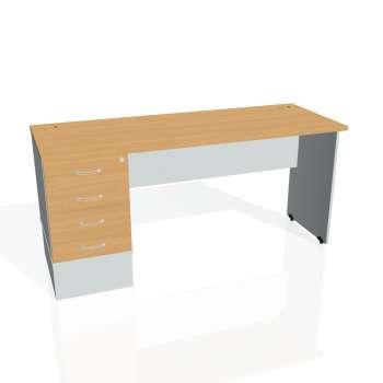 Psací stůl Hobis GATE GEK 1600 24, buk/šedá