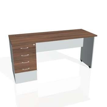 Psací stůl Hobis GATE GEK 1600 24, ořech/šedá