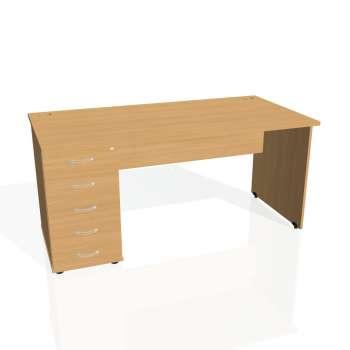 Psací stůl Hobis GATE GSK 1600 25, buk/buk