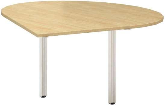 Přídavný stůl Alfa 100 - levý, 120 cm, divoká hruška/šedý