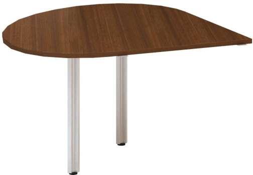 Přídavný stůl Alfa 100 - pravý, 120 cm, ořech/šedý