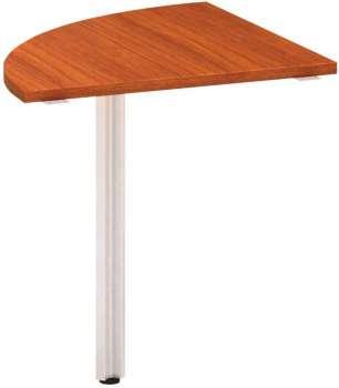 Přídavný stůl Alfa 100 - čtvrtkruh 70 cm, třešeň/šedý