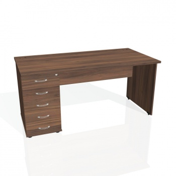 Psací stůl Hobis GATE GSK 1600 25, ořech/ořech