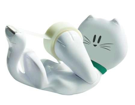 Odvíječ lepicí pásky Scotch - stolní, v designu kočky