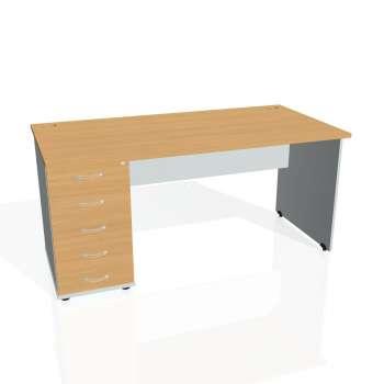 Psací stůl Hobis GATE GSK 1600 25, buk/šedá