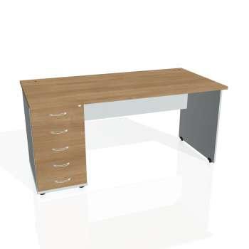 Psací stůl Hobis GATE GSK 1600 25, višeň/šedá