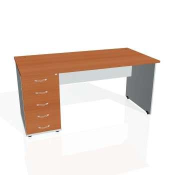 Psací stůl Hobis GATE GSK 1600 25, třešeň/šedá