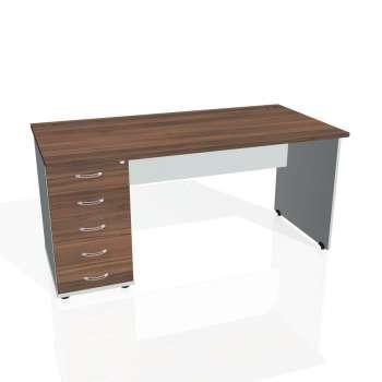 Psací stůl Hobis GATE GSK 1600 25, ořech/šedá