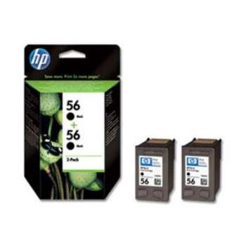 Cartridge HP C6656AE/56 - černá, dvojbalení