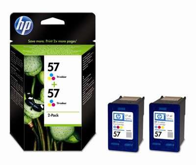 Cartridge HP C9503AE/2x57 - tříbarevná, dvojbalení