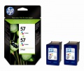 Cartridge HP C9503AE, č. 2x57 - 3 barvy , dvojbalení
