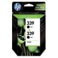 Cartridge HP C9504EE, č. 2x339 - černá , dvojbalení