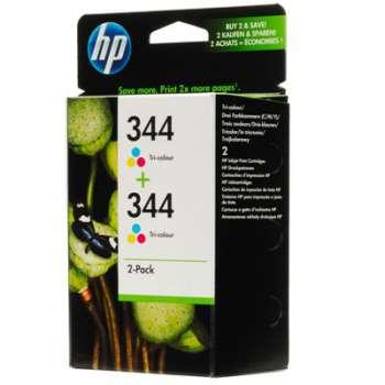 Cartridge HP C9505EE/2x344 - 3 barvy , dvojbalení