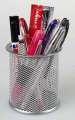Drátěný kalíšek na tužky - velký, stříbrný