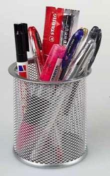 Kalíšek na tužky Office Depot - drátěný, stříbrný