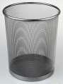 Drátěný odpadkový koš - stříbrný, objem 13 l