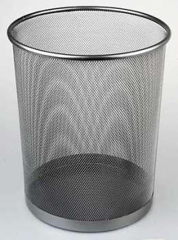 Odpadkový koš Office Depot - drátěný, stříbrná, objem 13 l