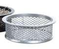 Drátěný kalíšek na sponky - velký, stříbrný