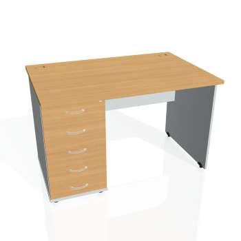 Psací stůl Hobis GATE GSK 1200 25, buk/šedá