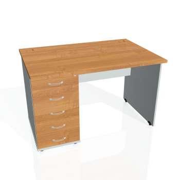 Psací stůl Hobis GATE GSK 1200 25, olše/šedá
